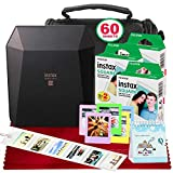 Fujifilm Instax Share SP-3 Smartphone Printer (Black) with 60 Sheets of Instant Square Film with Platinum Bundle (USA Warranty)