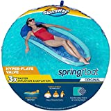 SwimWays Spring Float Inflatable Pool Lounger with Hyper-Flate Valve