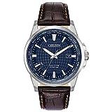 Citizen Men's BX1000-06L World Time Perpetual Calendar Japanese-Quartz Blue Watch