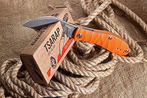 Russisches Taktisches Messer Tsarap Orange BRUTALICA