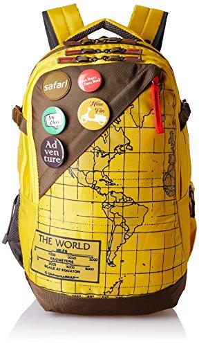 Safari 42 Ltrs Yellow Laptop Backpack (Atlas Yellow)