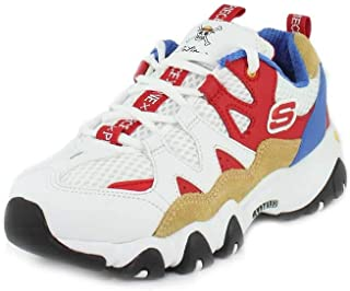 Skechers One Piece D'Lites 2 Womens White/Red Trainers