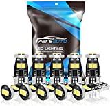 Marsauto 194 LED Bulbs Extremely Bright 400LM 6000K Xenon White T10 168 192 2825 W5W Replacement Bulbs for 12V Car Interior Dome Map Door Courtesy Trunk License Plate Lights(Pack of 10)
