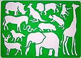 Safari Afrikaner Tiere Schablone Zeichenschablone - Elefant Giraffe Löwe Känguru Pferd Hirsch...