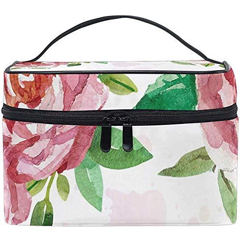 Cosmétique Sac, Roses Peinture Voyage Maquillage Organisateur Sac Cosmétique Cas Portable Train Case pour Femmes Filles