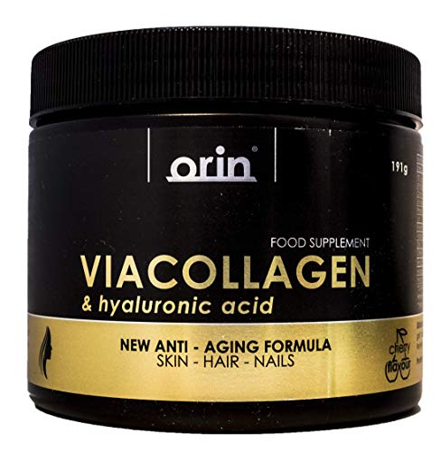 VIACOLLAGEN & Hyaluronic Acid Hydrolysed Marine Collagen Peptides, Only 19 Calories, 5000mg of Marine Collagen + 1000mg of Vitamin c + 80 mg of Hyaluronic Acid, zinc and biotin