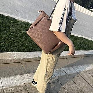 YKDY Shoulder Bag Casual Multifunctional PU Leather Shoulder Crossbody Chain Bag Ladies Handbag (Black) (Color : Brown)