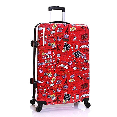 Karabar Dewberry Extra Large XL Lightweight Polycarbonate Hard Shell Suitcase, Cities