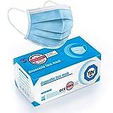 """Test """"SEHR GUT"""" - 50x TÜV zertifizierte Masken Medizinische Mundschutz Maske - TYP II BFE 98% 3-lagige Gesichtsmaske EN 14683:2019 Atemmaske Atemschutzmaske"""