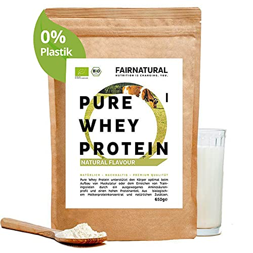 BIO WHEY Protein-Pulver Neutral [aus Deutschland] ohne Soja - Eiweiß-Pulver für Eiweiß-Shakes oder als Low-Carb Backprotein für Männer & Frauen - 650g Molkenprotein-Pulver ohne Zucker