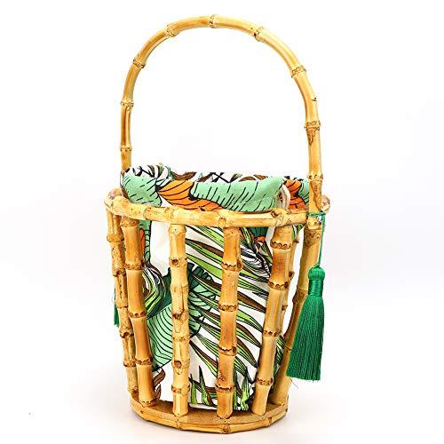 Totalizador de bambú, bolso de bambú durable manual puro elegante de bambú ligero para el almacenamiento