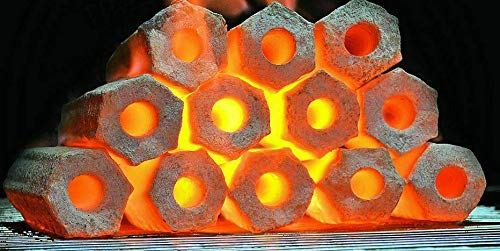 Troy carbón vegetal coco barbacoa briquetas barbacoa carbón quema cinco horas 10 kg