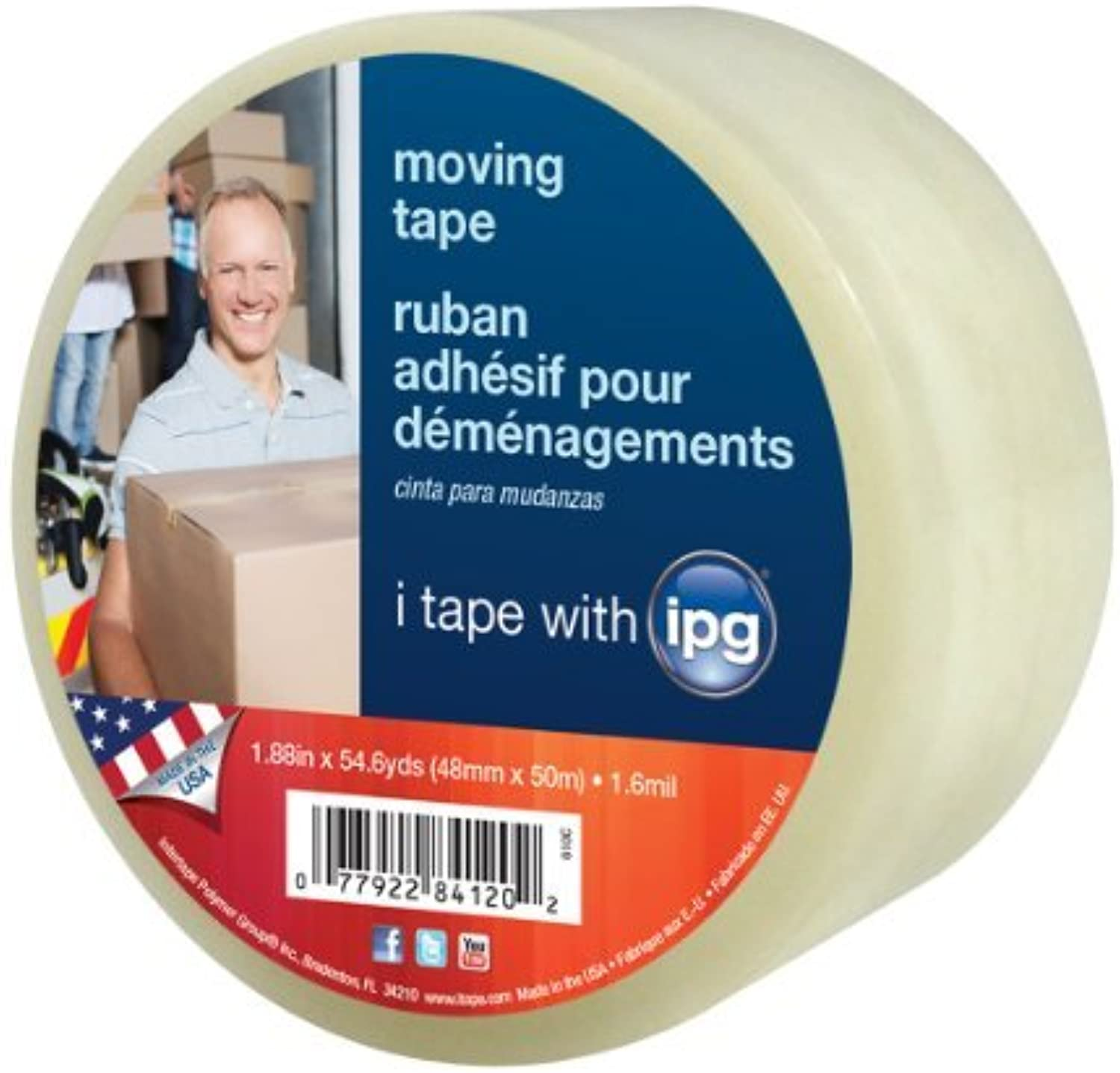 Intertape 91390 610C Hot Melt Moving Tape, 1.88-Inch by 54.6-Yard, 1.6 mil, Clear by Intertape Polymer Group