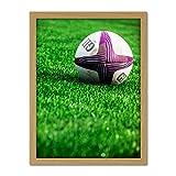 Sport Rugby Ball Field World Cup Photo Artwork Framed Wall Art Print 18X24 inch Ballon Champ Monde Photographier Mur
