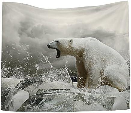 JTWJ 北欧風動物背景布インベッドサイドハング布リビングルーム装飾的なタペストリー背景絵画 (Color : G-51.1X59.0in)