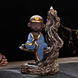 HSUO Painted Pottery Sand Reflux Weihrauchbrenner, Keramik Weihrauchbrenner, Sun Xiaosheng Weihrauchbrenner Rückfluss Handwerk Geschenk Ornamente -
