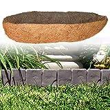 fllyingu Semicirculante de Pared Coco Liner Colchoneta de Cultivo Hecha de 100 de Coco para Canastas para Jardineras Y Decoración De Jardín En Casa