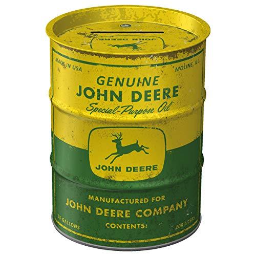 Nostalgic-Art - John Deere - Special Purpose Oil Spardose, Geschenke für Traktor-Fans, als Sparschwein aus Metall, Vintage Sparbüchse aus Blech