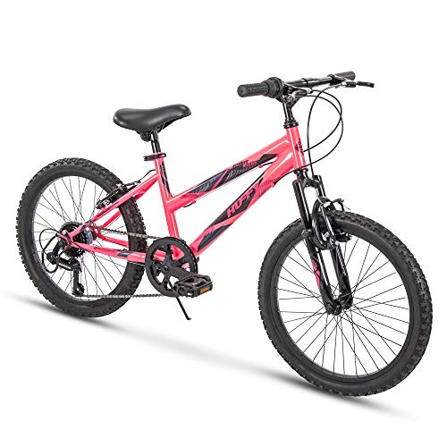 Huffy Kids Hardtail Mountain Bike for Girls, Summit Ridge 20 inch 6-Speed (Renewed)