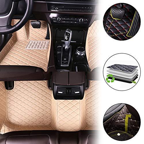 Cobear Fussmatten Auto 3D Autoteppich für 2006-2013 V olvo C30 Individuelle Passform Kunstleder wasserdichte 3D Voll Auto Matten Beige 1 Set