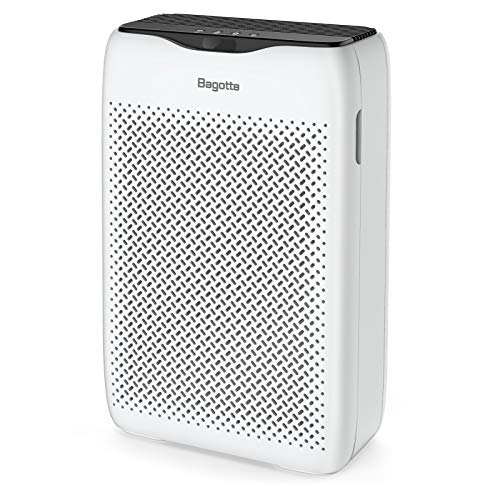 Bagotte Air Purifier, True HEPA Air Purifier for Home Large Room (99.97%), Quiet Air Cleaner Removes Allergies, Pet Hair, Smoke, Odors, for Bedroom, Office, Sleep Mode & Timer