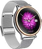 Smartwatch Mujer, Reloj Inteligente Deportivo 1.1 Pulgadas Táctil Completa IP67, Pulsómetro, Monitor de Sueño, Notificaciones Inteligentes, Contador de Caloría Podómetro Cronómetros para Android iOS