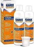 KAREX Defence Collutorio Antivirale 2x 300ml | Collutorio Antibatterico Contro i Virus | Collutorio Disinfettante Antibatterico Senza alcool | Soluzione Antivirale per Gargarismi e Disinfezione Orale