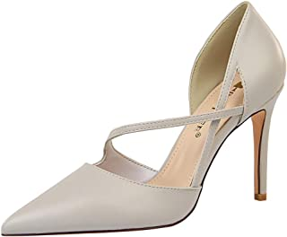 Melady Women Elegant Dress Shoes D Orsay Stiletto Heels