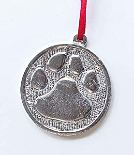 Customized Paw Cougar Tiger Wild Cat Dog Ornament Keepsake Pewter