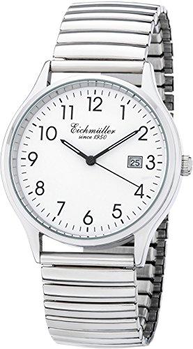 Eichmüller Herrenuhr Flexband Zugband Uhr Edelstahl poliert 5ATM mit Datum