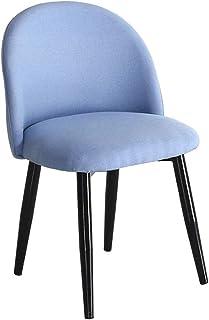 FDN Cocina Cocina sillas de Comedor, for Office Salón Comedor Dormitorio Cocina Silla de recepción de la Sala Contador Salón Sillas de Comedor (Color : Blue, Size : Black Legs)