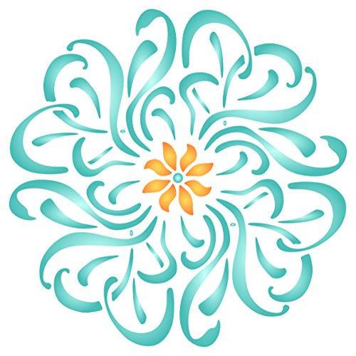 Papel Pintado Pared Flores Grandes Marca Stencil Company