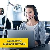Jabra Evolve 20 MS Casque Mono – Casque certifié par Microsoft pour téléphone logiciel VoIP avec suppression passive du…