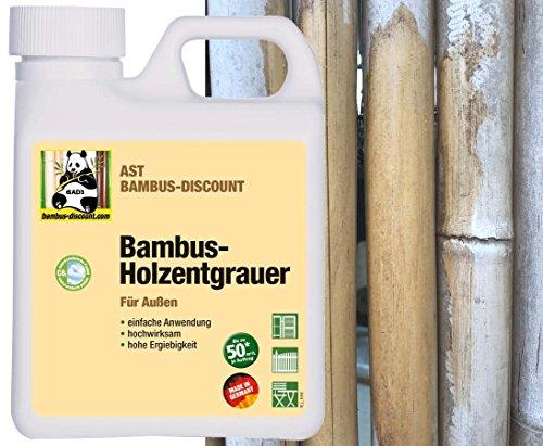 BADI Holzentgrauer/Bambusentgrauer - Mittel zur Auffrischung und Reinigung von vergrautem Holz im Aussenbereich - 1,0 Liter (BD75402)