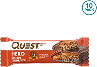 Quest Nutrition Chocolate Caramel Pecan Hero Protein bar, Low Carb, Gluten Free, 10Count