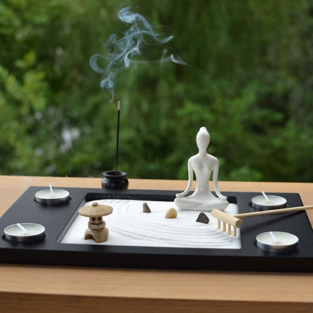 RSRZRCJ Escultura Esculturas Decoracion Juego De Piedra De Mini Paisaje De Decoración De Jardín Zen: Amazon.es: Hogar