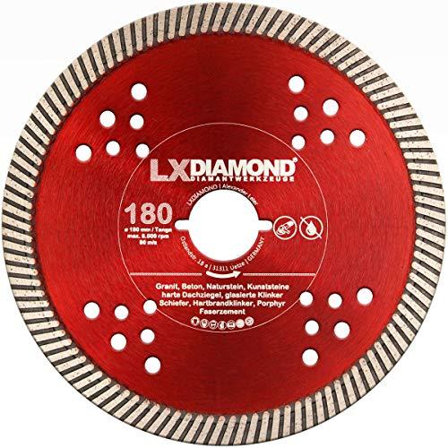 LXDIAMOND Diamant-Trennscheibe Ø 180mm Beton passend für Lamello Tanga DX200 Trennfräse Fensterfräse Montagefräse Diamantscheibe 180 mm