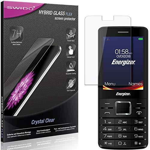 SWIDO Panzerglas Schutzfolie kompatibel mit Energizer Power Max P20 Bildschirmschutz-Folie & Glas = biegsames HYBRIDGLAS, splitterfrei, Anti-Fingerprint KLAR - HD-Clear