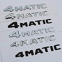 メルセデスベンツAMG 4MATICの手紙エンブレムバッジ再トランクすべてのホイールドライブロゴステッカーブラッククローム