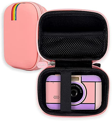 La custodia protettiva per fotocamera compatta per bambini Leayjeen è adatta per YunLone, XDDIAS, Joylink, Mbuynow, fotocamera per bambini da 2,4 pollici (solo custodia protettiva) rosa