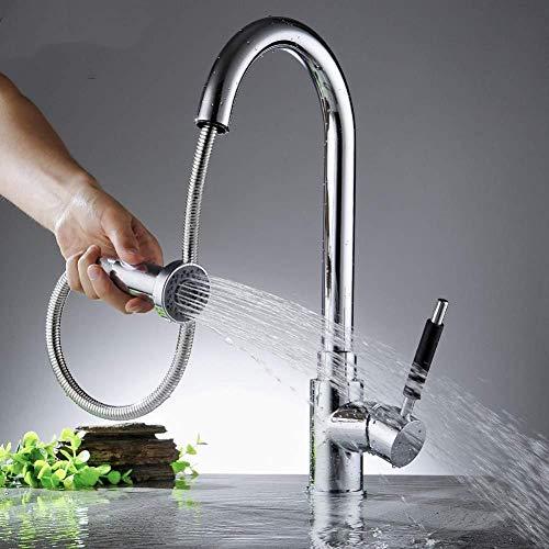 Kraan Keukenkraan Hot Sale! 2 functies keukenkraan uittrekken 360 draaibare keukenkraan sproeier hoofd wastafel mixer kraan