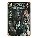 HONGXIN Ozzy Osbourne Illutration Vintage Metall Zeichen