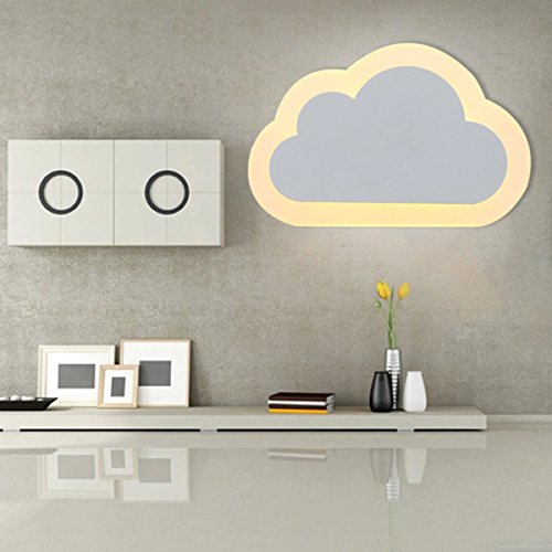 Wandlampe Kreative LED Wandleuchte Kinderzimmer - ELINKUME 12w Wandleuchten Wolkenform Acryl für Gasse, Korridor, Zimmer, Korridor, Flur