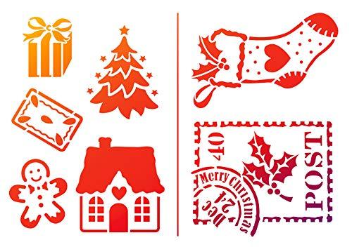 Pochoir « Petits motifs de Noël », A5