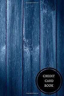 Credit Card Book: Mini Credit Card Log