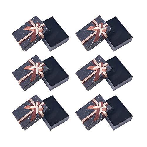 Panda Hall Elite & reg Rectangle Carton Bijoux coffres, vert foncé, 9.5x7x3cm
