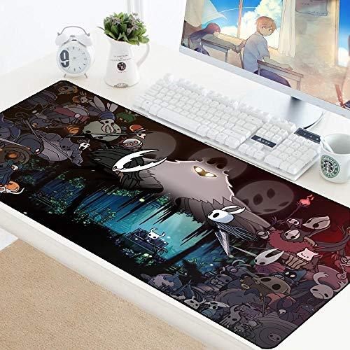 Hollow Knight Anime Alfombrillas de ratón Grandes Juegos XXL Teclado Alfombrilla Escritorio Borde Bloqueo...