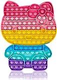 Wulcea Pop Fidget Toys Gigante It Grande XXL De Burbujas Enorme Push Antiestres Up Niños Sensoriales Juguete Adultos Cosas Regalo para Alumnos Gato