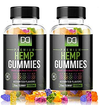 (120 Count) Sugar Free Hemp Gummies Extract (1500mg | 25mg/Serv)Hemp Oil Gummy Bears Vitamins Edibles Candy Supplements for Pain, Sleep Support, Anxiety Relief, Inflammation - Zero THC CBD Cannabidiol by Mix Rx
