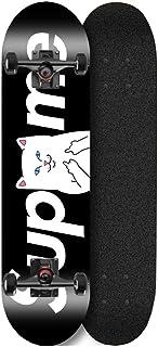 LJHBC Skateboard 31.5 in Crucero Completa Arce de 7 Capas Patinetas Concave Doble Patada ABEC-11 Penny Skate Board Estilos de Skate en Diseños Gráficos